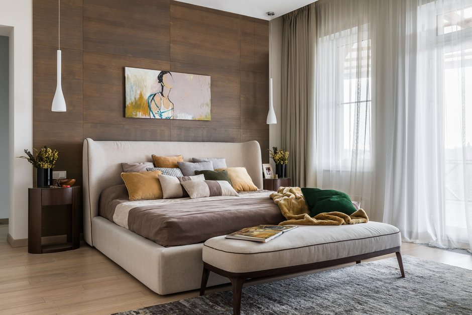 Фотография: Спальня в стиле Современный, Дом, Проект недели, Дом и дача, 4 и больше, Более 90 метров, Алиса Свистунова, Bon-Ton – фото на INMYROOM