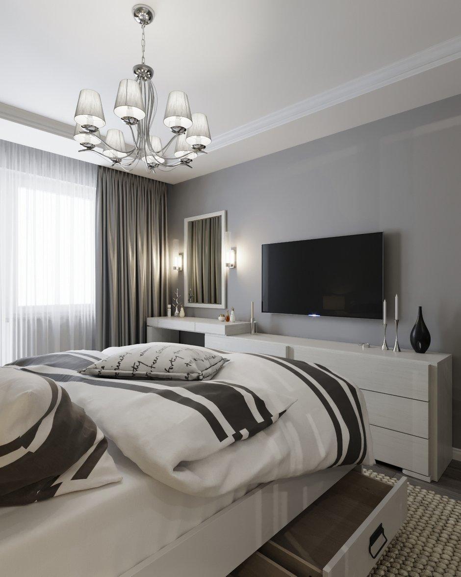 Фотография: Спальня в стиле Современный, Классический, Скандинавский, Эклектика, Квартира, BoDeCo, Проект недели, Беларусь, Панельный дом, 3 комнаты, 60-90 метров, Гомель, ANTEI – фото на INMYROOM