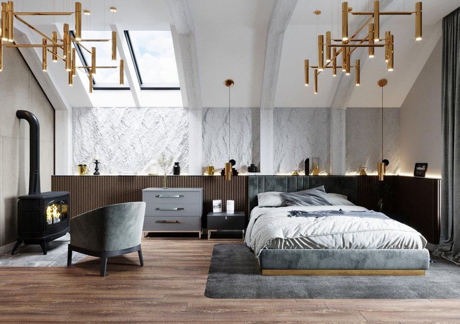 Фотография: Спальня в стиле Современный, Дом, Ariston, Проект недели, 4 и больше, Более 90 метров, Уфа, Isometrio, Dune 1 R – фото на INMYROOM