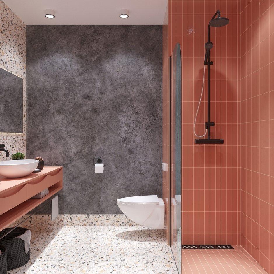 Фотография: Ванная в стиле Современный, Кухня и столовая, Гостиная, Классический, Квартира, Планировки, Декор, Проект недели, Синий, Серый, Розовый, Голубой, 2 комнаты, 40-60 метров – фото на INMYROOM