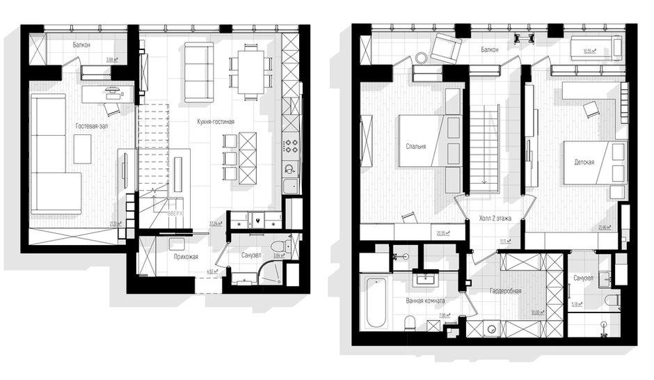 Фотография: Планировки в стиле , Кухня и столовая, Ванная, Прихожая, Гостиная, Детская, Спальня, Классический, Современный, Квартира, Бежевый, Коричневый, Более 90 метров, ПРЕМИЯ INMYROOM – фото на INMYROOM