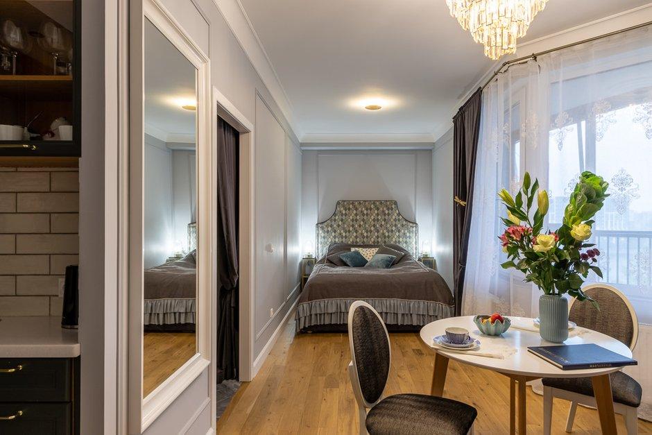 Фотография: Спальня в стиле Современный, Малогабаритная квартира, Квартира, Студия, Проект недели, Санкт-Петербург, до 40 метров, Елена Зингер – фото на INMYROOM