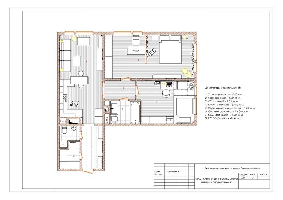 Фотография: Планировки в стиле , Лофт, Квартира, Проект недели, Москва, 2 комнаты, 3 комнаты, 60-90 метров, Анастасия Уфимцева – фото на INMYROOM