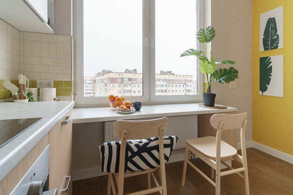 Фотография: Кухня и столовая в стиле Современный, Квартира, Проект недели, Санкт-Петербург, 1 комната, до 40 метров, Александра Сакмарова – фото на INMYROOM