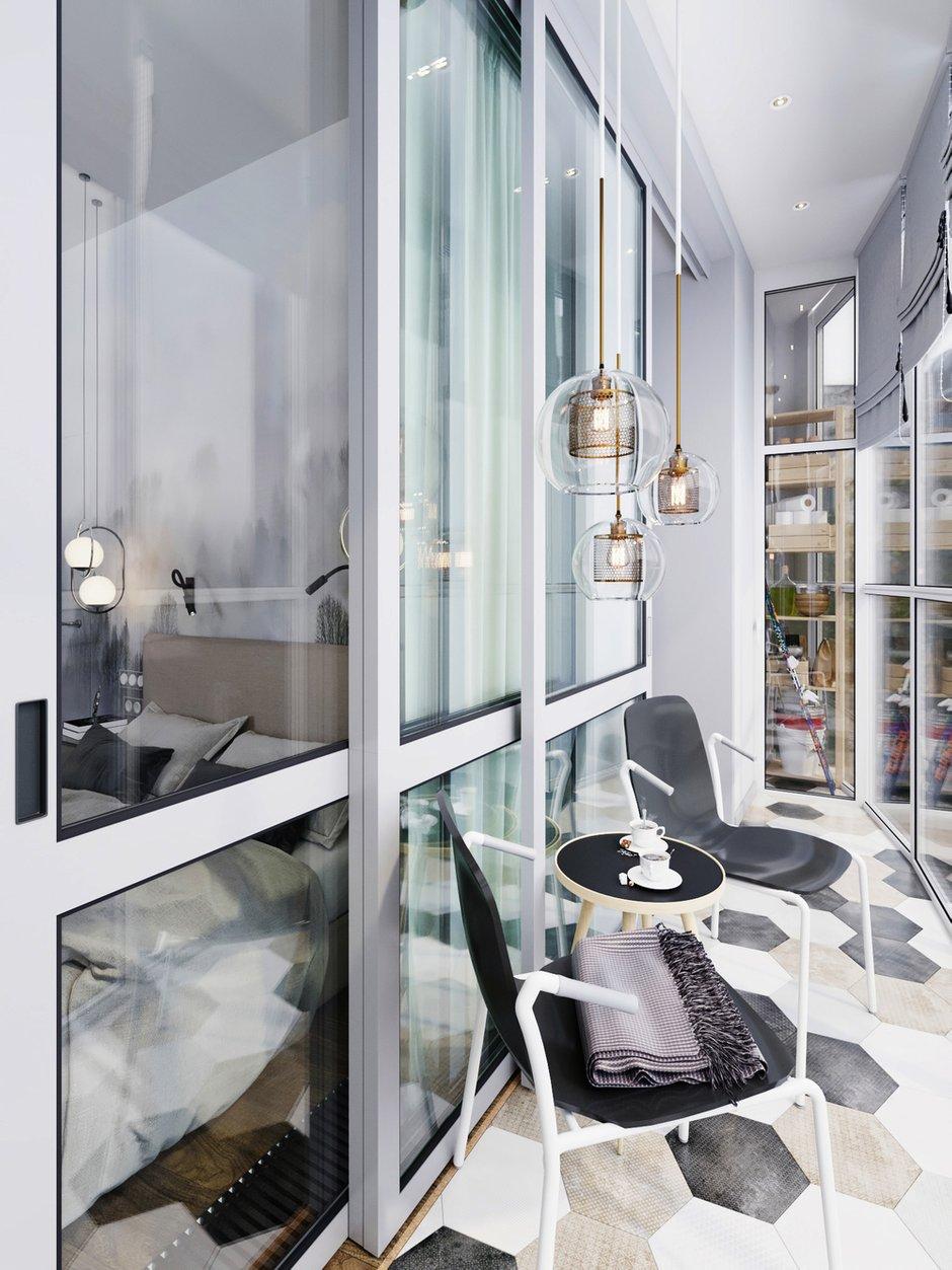 Фотография: Балкон в стиле Современный, Квартира, Проект недели, Московская область, 3 комнаты, 60-90 метров, Екатерина Саламандра – фото на INMYROOM