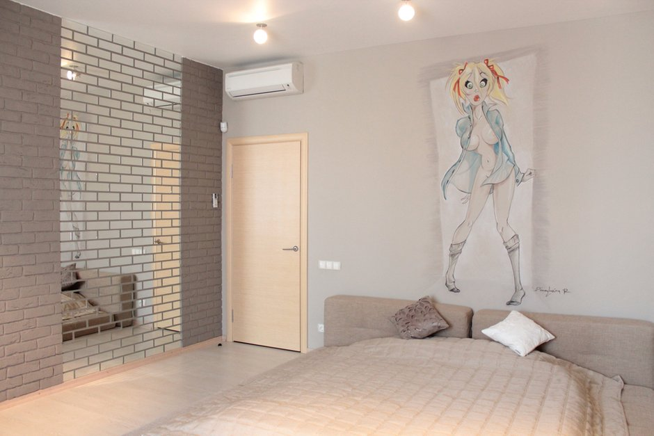 Фотография: Спальня в стиле Лофт, Интерьер комнат, Минимализм, Проект недели, Эко – фото на InMyRoom.ru