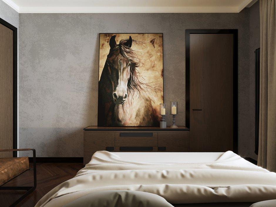 Фотография: Спальня в стиле Лофт, Современный, Квартира, Проект недели, Монолитный дом, 2 комнаты, 40-60 метров, ЖК «Маяк» – фото на INMYROOM