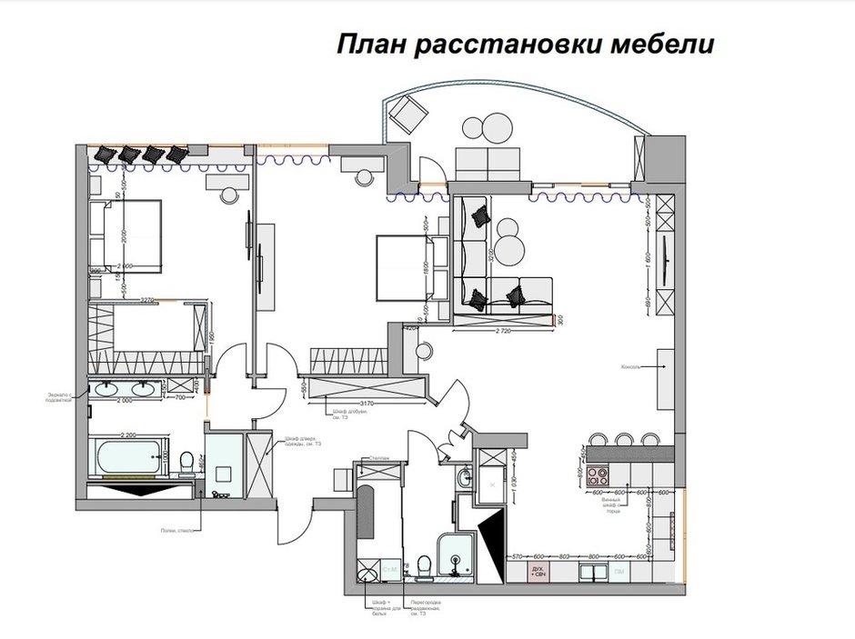 Фотография:  в стиле , Современный, Квартира, Проект недели, Москва, Ирина Васильева, 3 комнаты, Более 90 метров – фото на INMYROOM