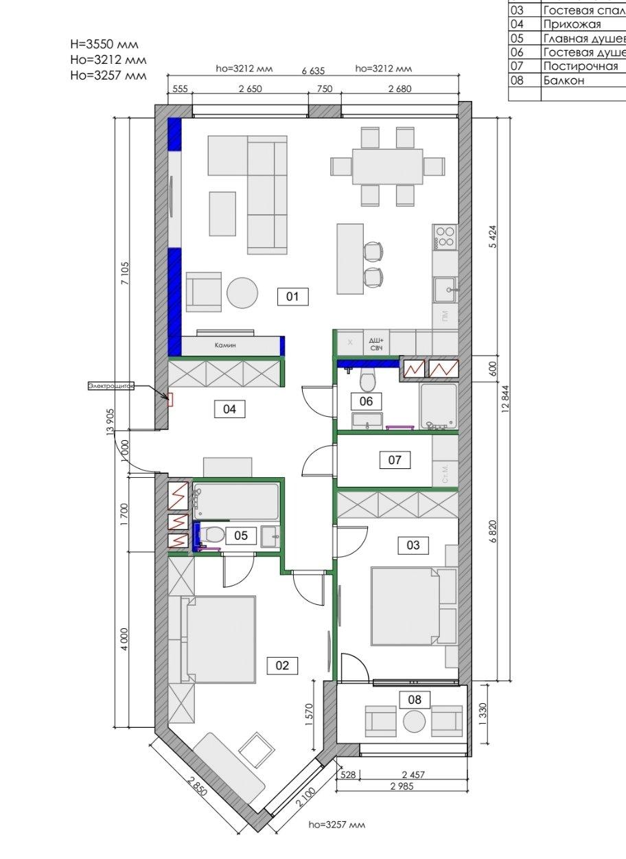 Фотография: Планировки в стиле , Современный, Квартира, Проект недели, Москва, 3 комнаты, Более 90 метров – фото на INMYROOM