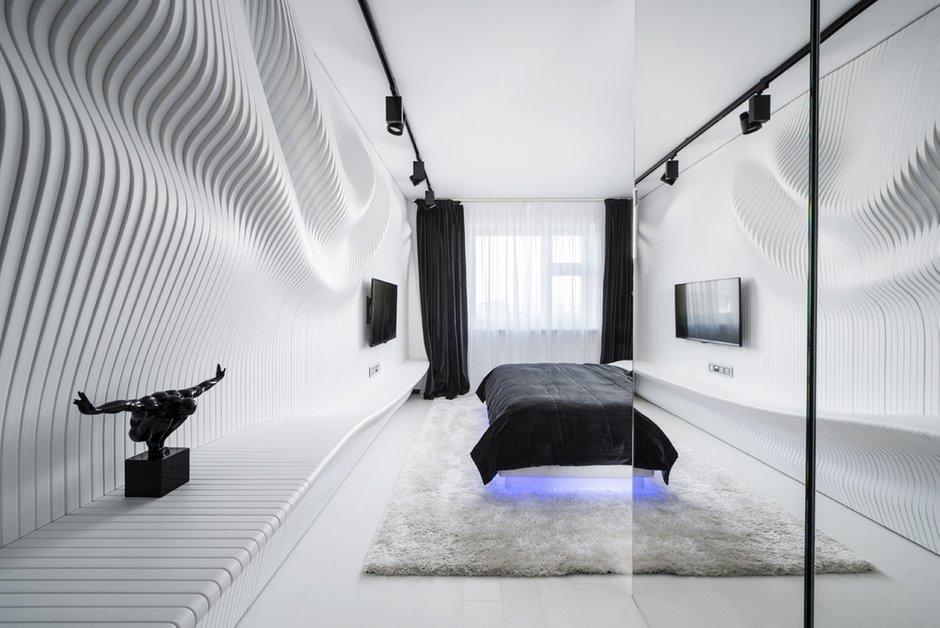Фотография: Спальня в стиле Хай-тек, Интерьер комнат, Проект недели, Ар-деко – фото на InMyRoom.ru