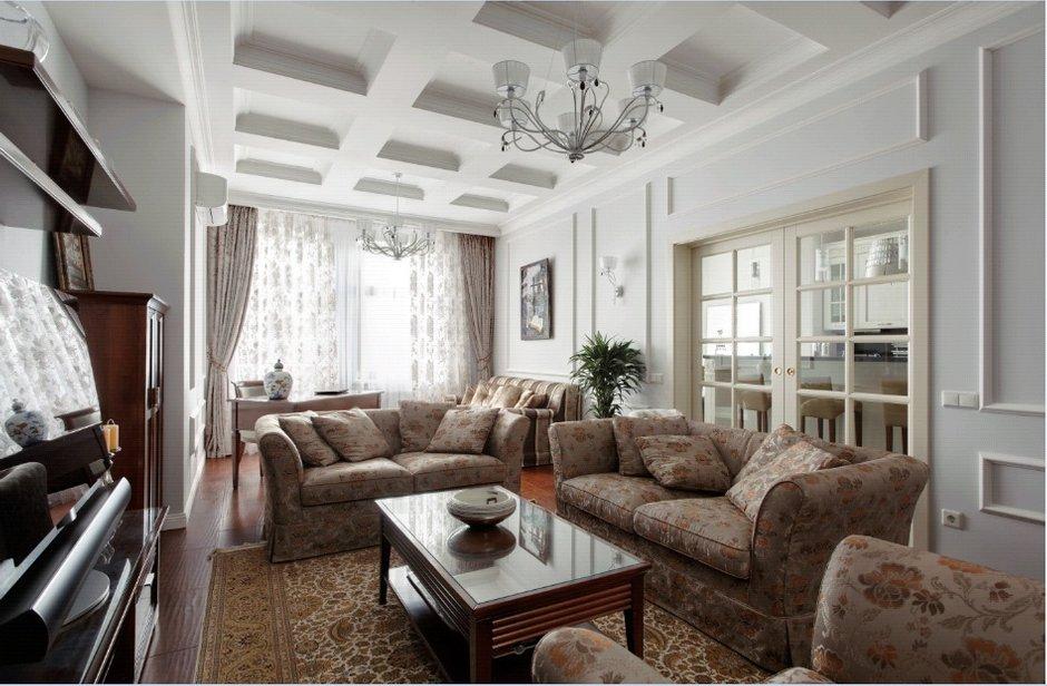 Фотография: Гостиная в стиле Прованс и Кантри, Квартира, Дома и квартиры, Проект недели, Москва – фото на INMYROOM