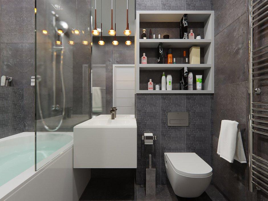 Фотография: Ванная в стиле Современный, Хай-тек, Квартира, Студия, Проект недели, Красногорск, до 40 метров, ArtBaza design studio – фото на INMYROOM