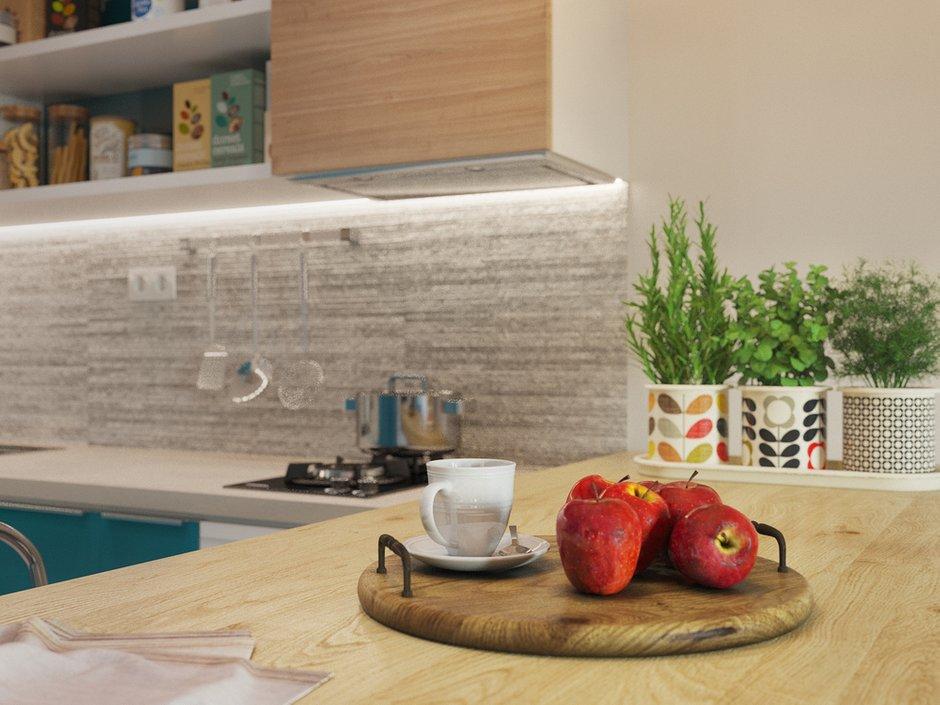 Фотография: Кухня и столовая в стиле Современный, Малогабаритная квартира, Квартира, Студия, Проект недели, Санкт-Петербург, Никита Зуб, Монолитный дом, до 40 метров – фото на INMYROOM