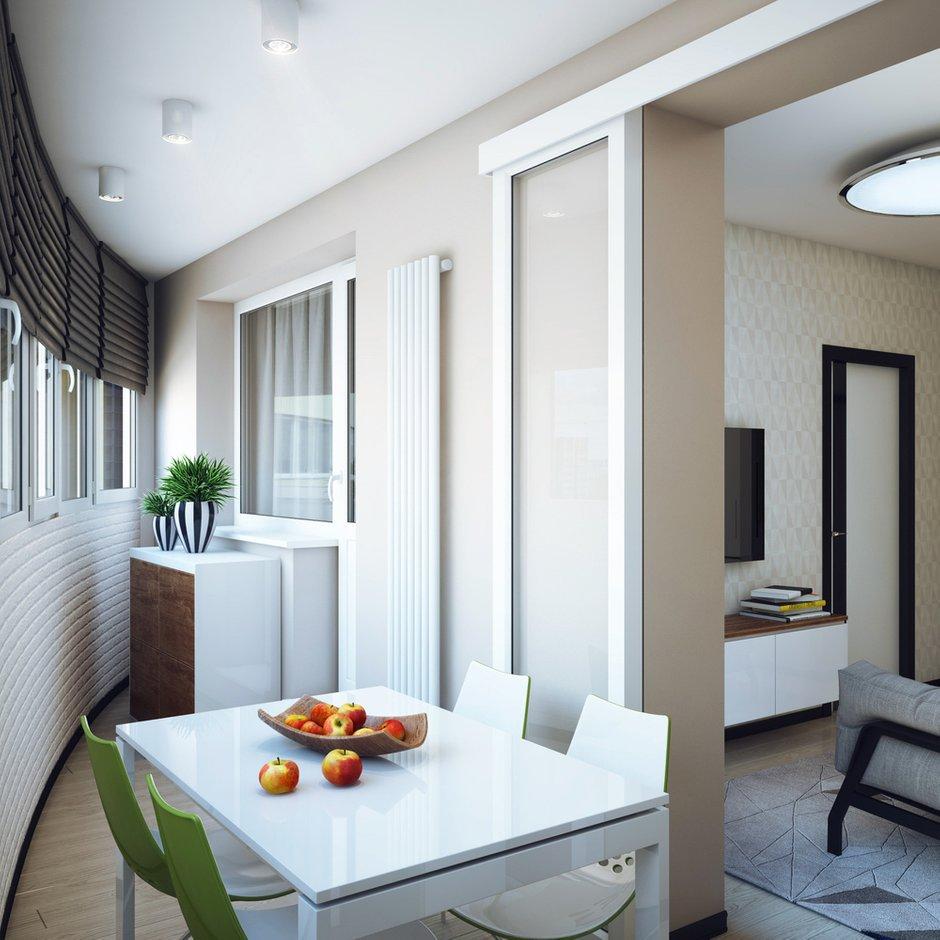 Фотография: Балкон, Терраса в стиле Современный, Малогабаритная квартира, Квартира, Дома и квартиры, Проект недели – фото на INMYROOM