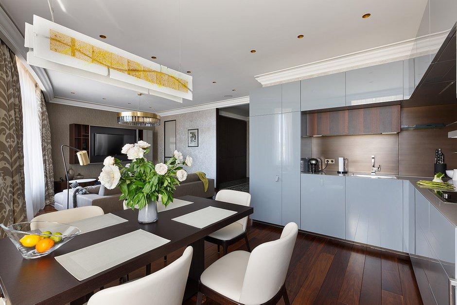 Фотография: Кухня и столовая в стиле Современный, Гостиная, Интерьер комнат, Проект недели – фото на INMYROOM