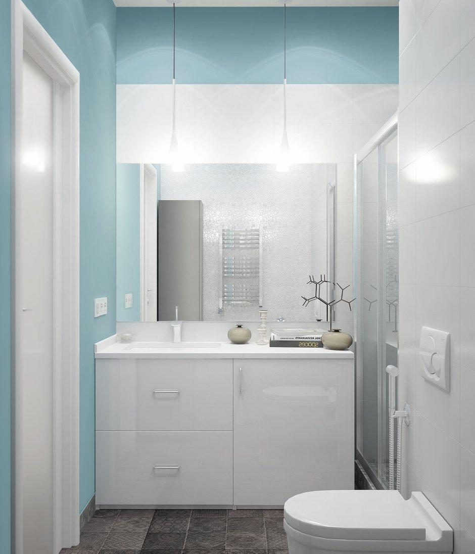 Фотография: Ванная в стиле Скандинавский, Квартира, Цвет в интерьере, Дома и квартиры, Белый, Проект недели – фото на INMYROOM