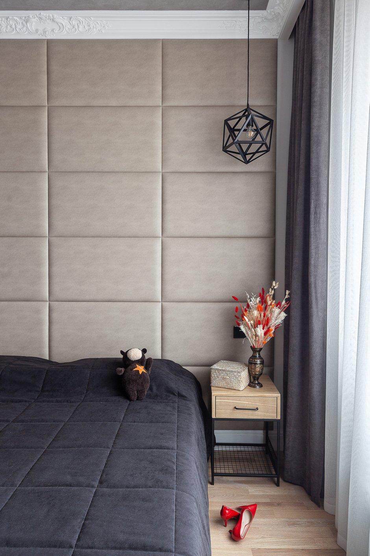 Фотография: Спальня в стиле Современный, Квартира, Проект недели, Москва, Монолитный дом, Надежда Требухина – фото на INMYROOM