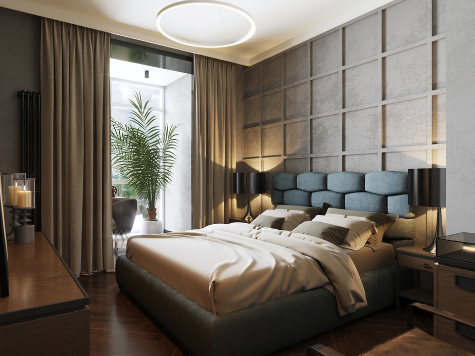 Фотография: Спальня в стиле Современный, Квартира, Проект недели, Монолитный дом, 2 комнаты, 40-60 метров, ЖК «Маяк» – фото на INMYROOM