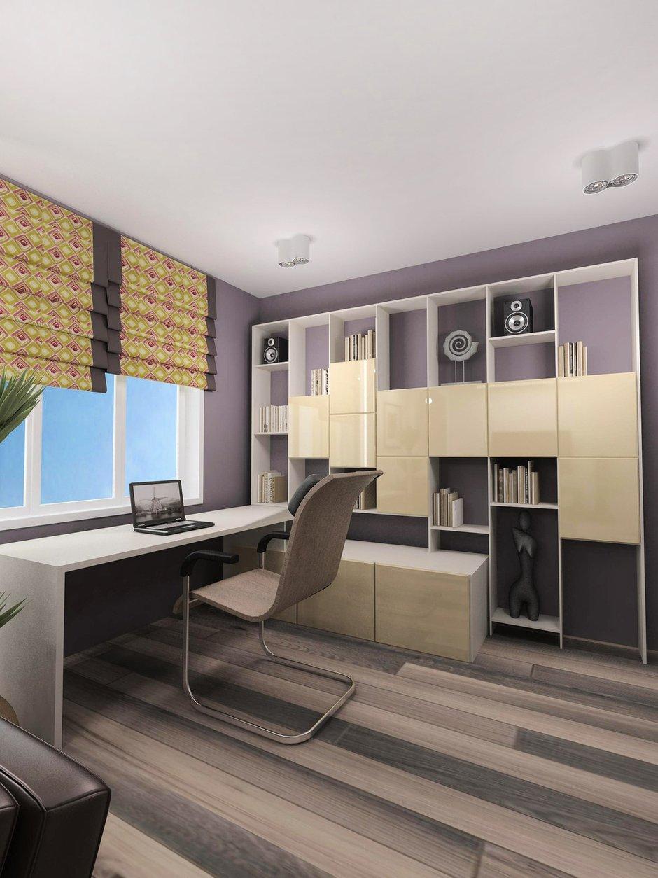 Фотография: Офис в стиле Современный, Квартира, Дома и квартиры, Проект недели – фото на InMyRoom.ru