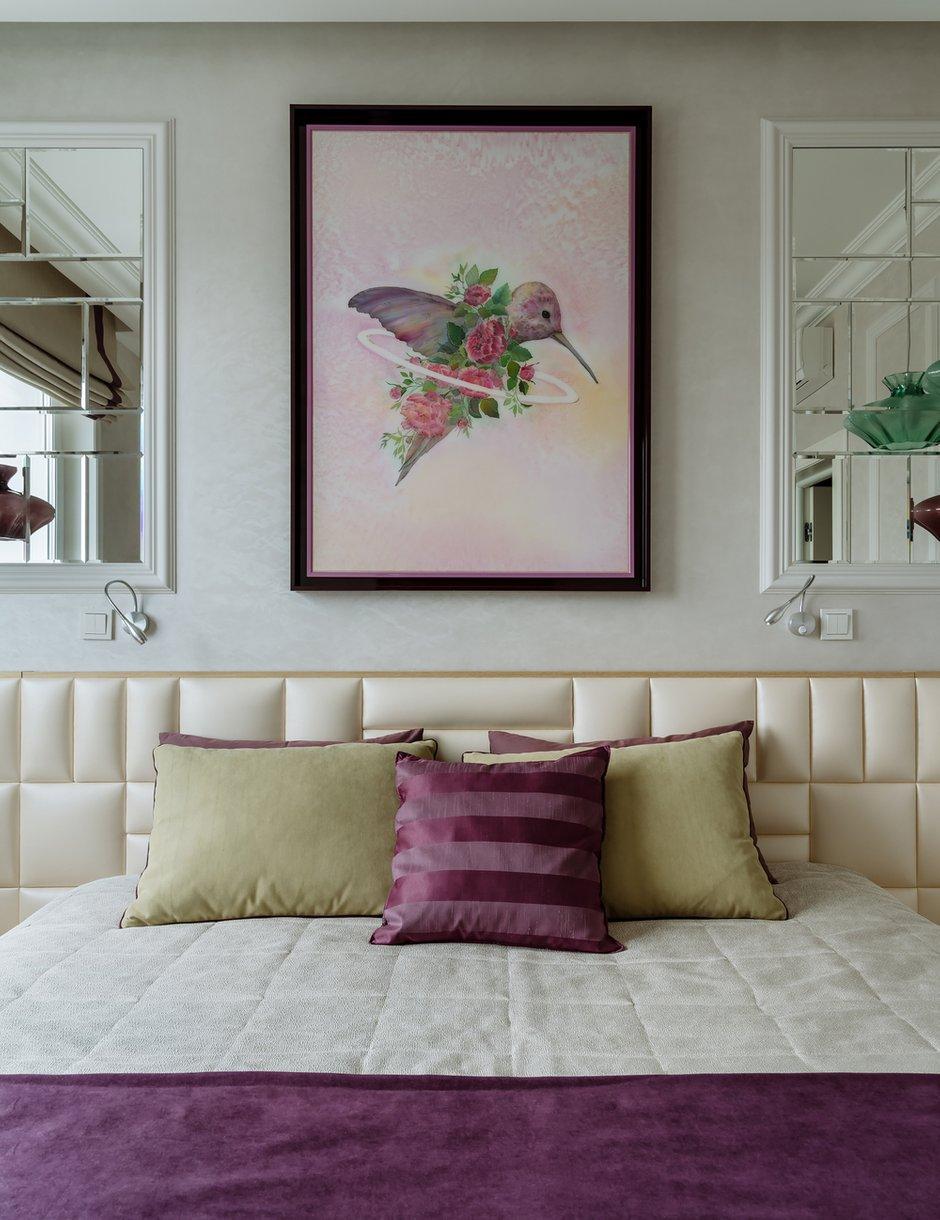 Фотография: Спальня в стиле Современный, Классический, Квартира, Проект недели, Красногорск, Монолитный дом, 2 комнаты, 60-90 метров, Лина Савина – фото на INMYROOM