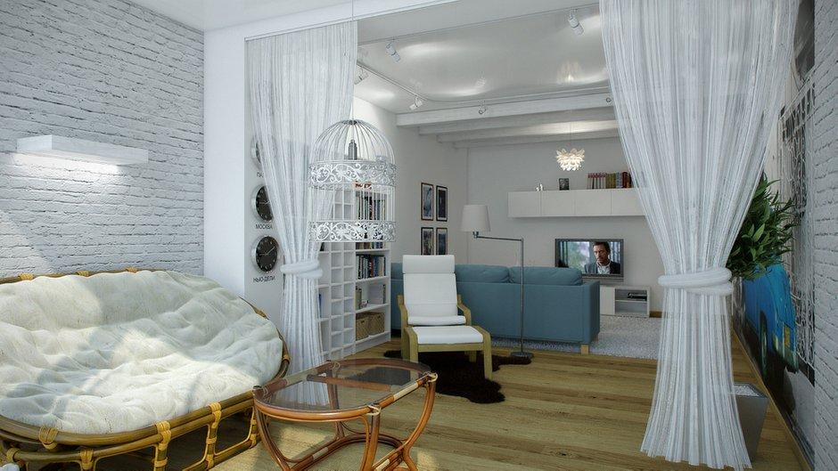Фотография: Гостиная в стиле Современный, Декор интерьера, Квартира, Цвет в интерьере, Дома и квартиры, Проект недели, Стены – фото на INMYROOM