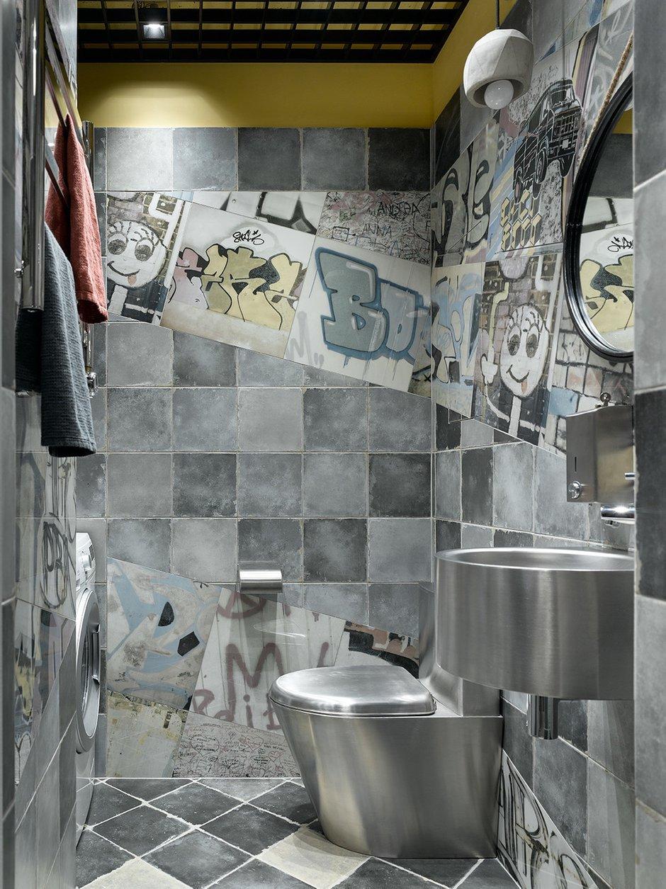 Фотография: Ванная в стиле Лофт, Квартира, Проект недели, Москва, 2 комнаты, 3 комнаты, 60-90 метров, Анастасия Уфимцева – фото на INMYROOM
