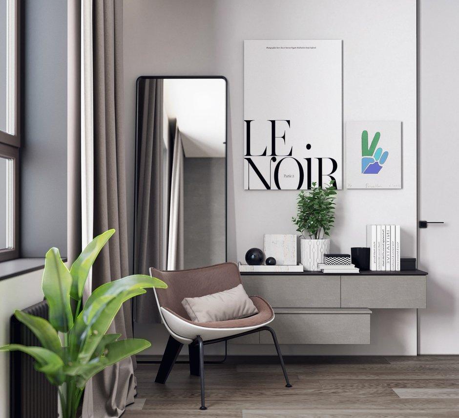 Фотография: Спальня в стиле Минимализм, Скандинавский, Квартира, Проект недели, Москва, Монолитный дом, Quadro room, 3 комнаты, Более 90 метров – фото на INMYROOM