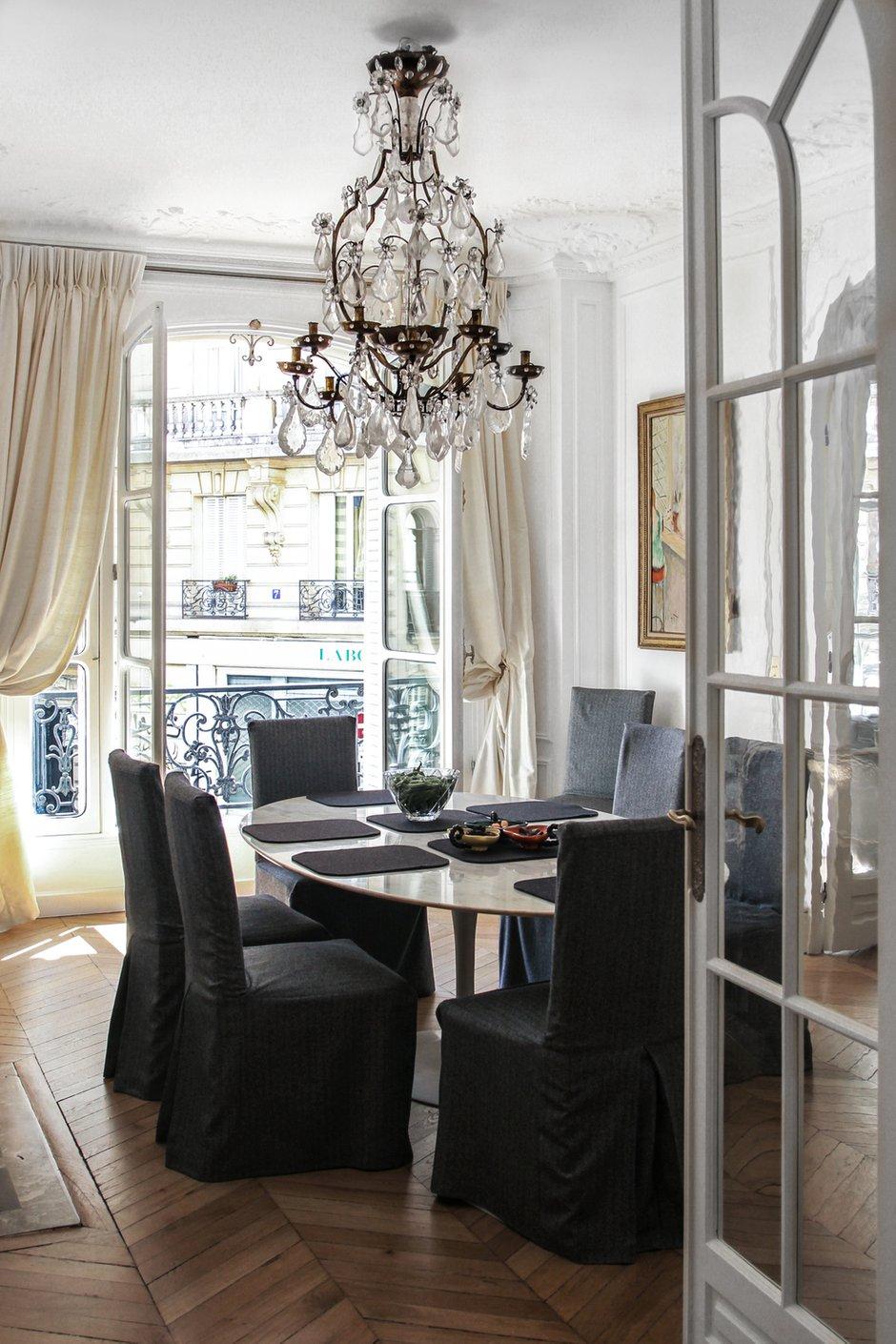 Фотография: Кухня и столовая в стиле Прованс и Кантри, Классический, Квартира, Антиквариат, Белый, Проект недели, Париж, Бежевый, ИКЕА, антикварная мебель в интерьере, Более 90 метров, #эксклюзивныепроекты, Катя Гердт – фото на INMYROOM