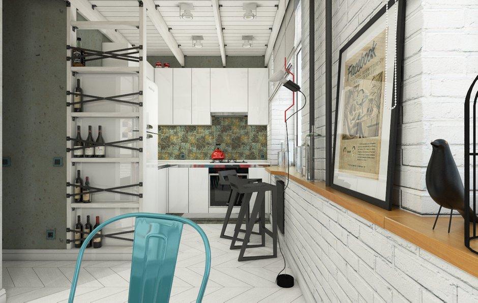 Фотография: Кухня и столовая в стиле Лофт, Квартира, Студия, Россия, Проект недели, Москва, лофт в сталинке, как обустроить лофт в сталинке, Сталинка – фото на INMYROOM