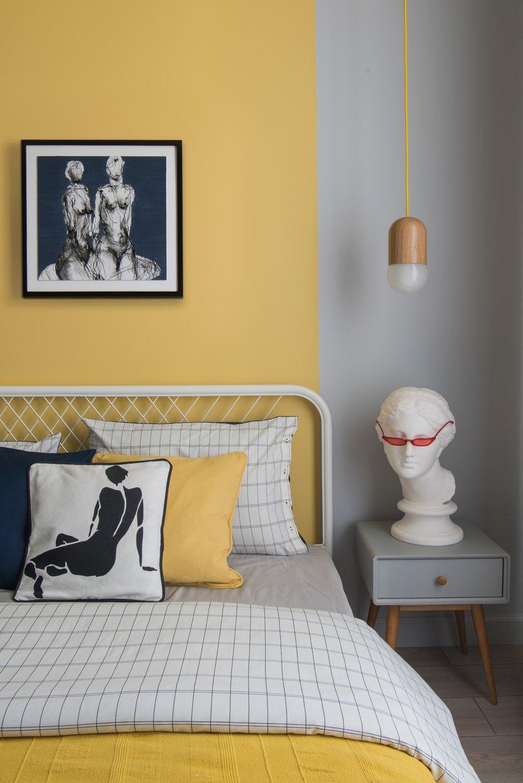 Фотография: Спальня в стиле Скандинавский, Современный, Квартира, Проект недели, 2 комнаты, 40-60 метров, Света Хабеева – фото на INMYROOM