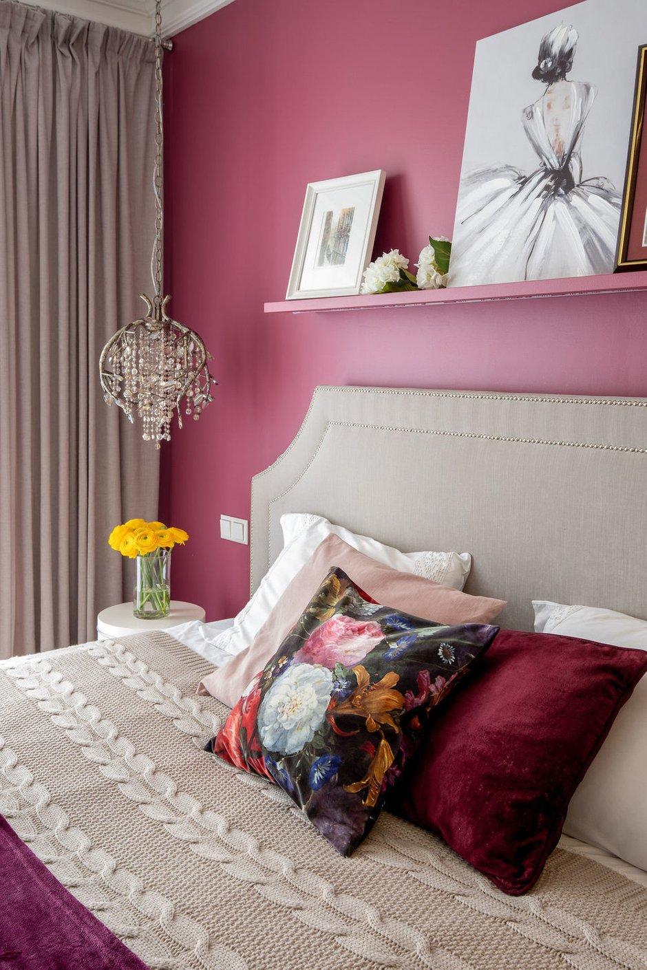 Фотография: Спальня в стиле Классический, Эклектика, Современный, Квартира, Проект недели, Москва, 2 комнаты, 40-60 метров, Didus Design – фото на INMYROOM