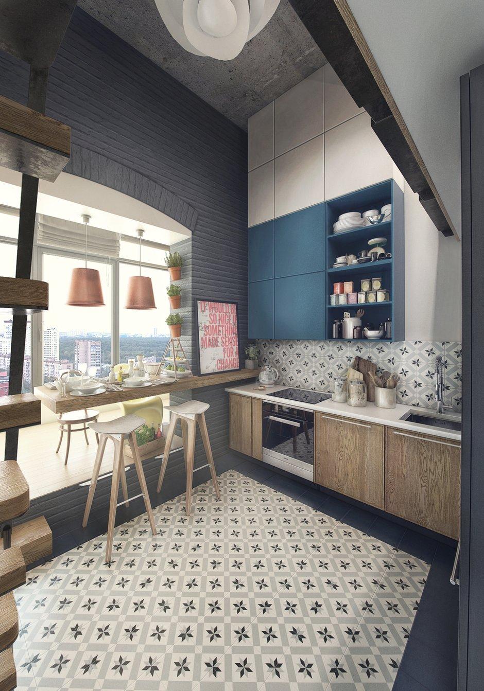 Фотография: Кухня и столовая в стиле Лофт, Квартира, Проект недели, Москва, ToTaste Studio, Монолитный дом, 4 и больше, 60-90 метров, ЖК «Соколиный форт» – фото на INMYROOM