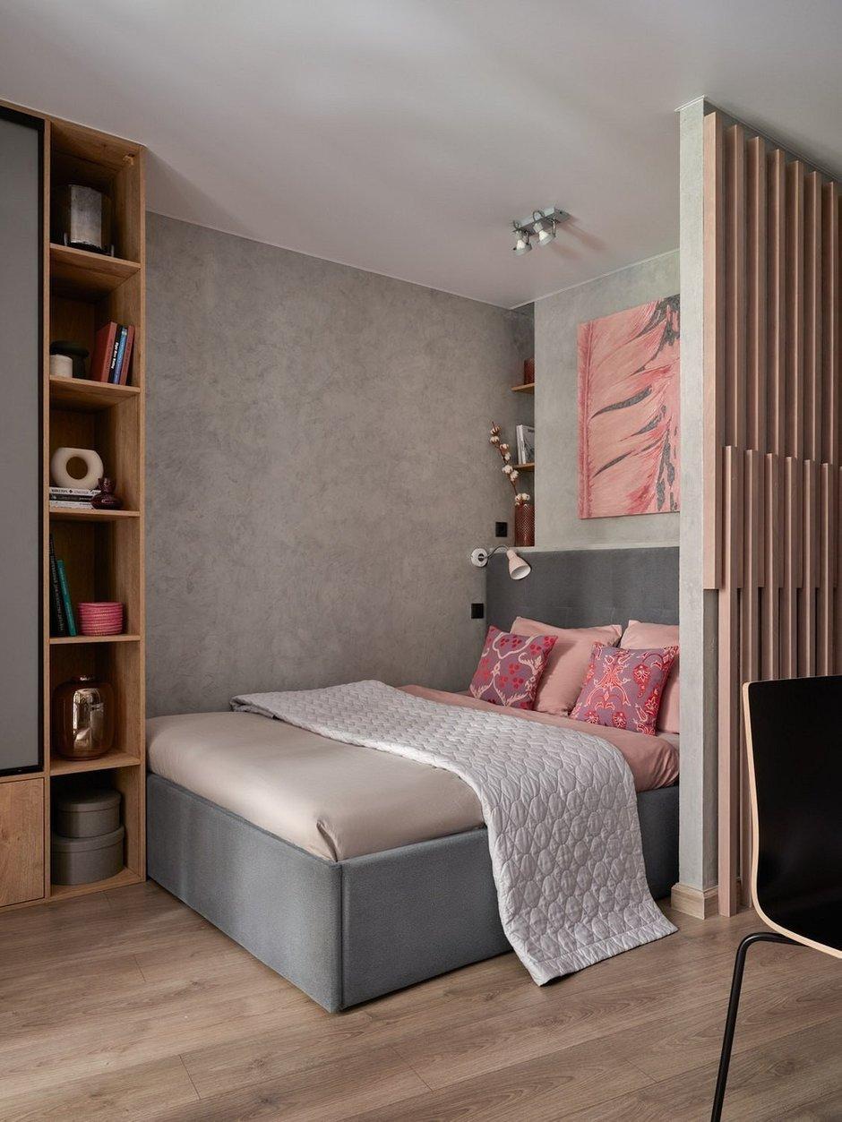 Фотография: Спальня в стиле Современный, Лофт, Малогабаритная квартира, Квартира, Студия, Проект недели, Москва, до 40 метров, Дина Удальцова – фото на INMYROOM