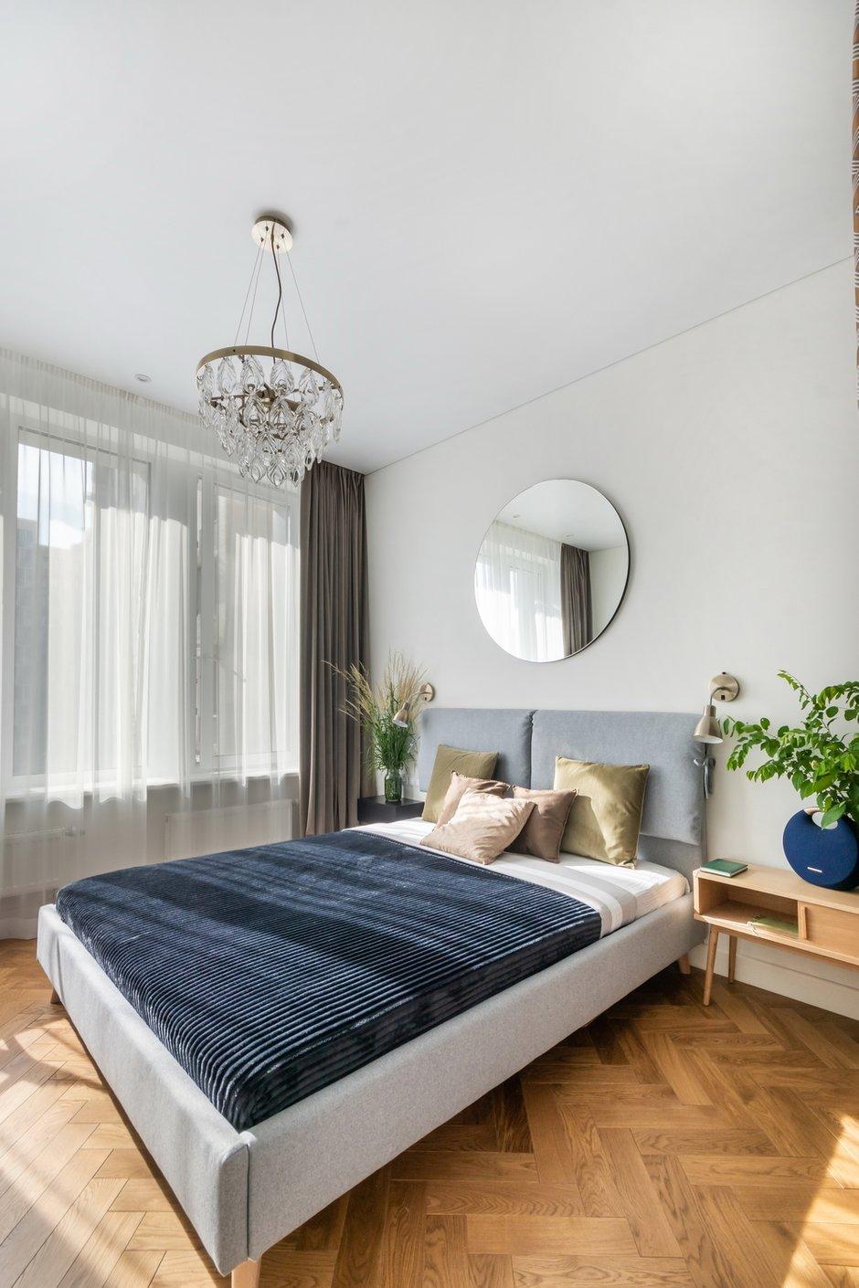 Фотография: Спальня в стиле Современный, Квартира, Проект недели, Москва, 2 комнаты, 40-60 метров, Александра Частова – фото на INMYROOM