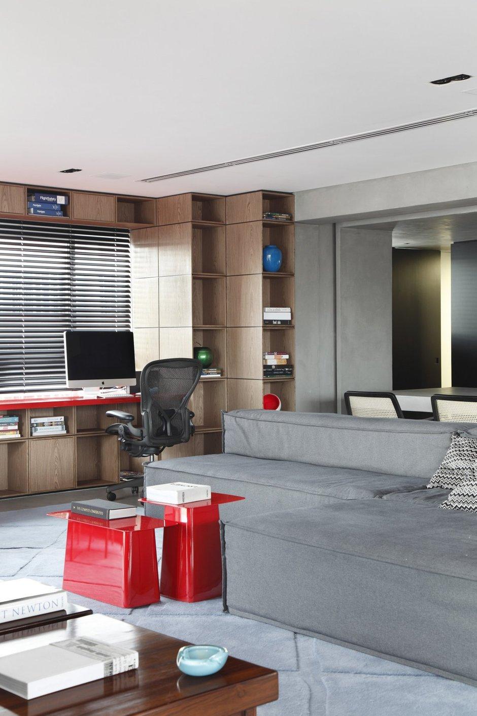 Фотография: Гостиная в стиле Современный, Дом, Цвет в интерьере, Дома и квартиры, Серый, Бразилия, Пол, Сан-Паулу – фото на INMYROOM