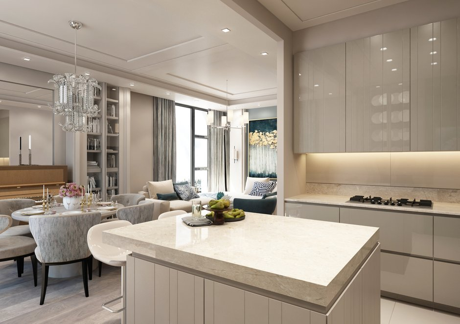 Фотография: Кухня и столовая в стиле Классический, Современный, Квартира, Проект недели, Москва, Beindesign, ЖК «Резиденция Монэ» – фото на INMYROOM