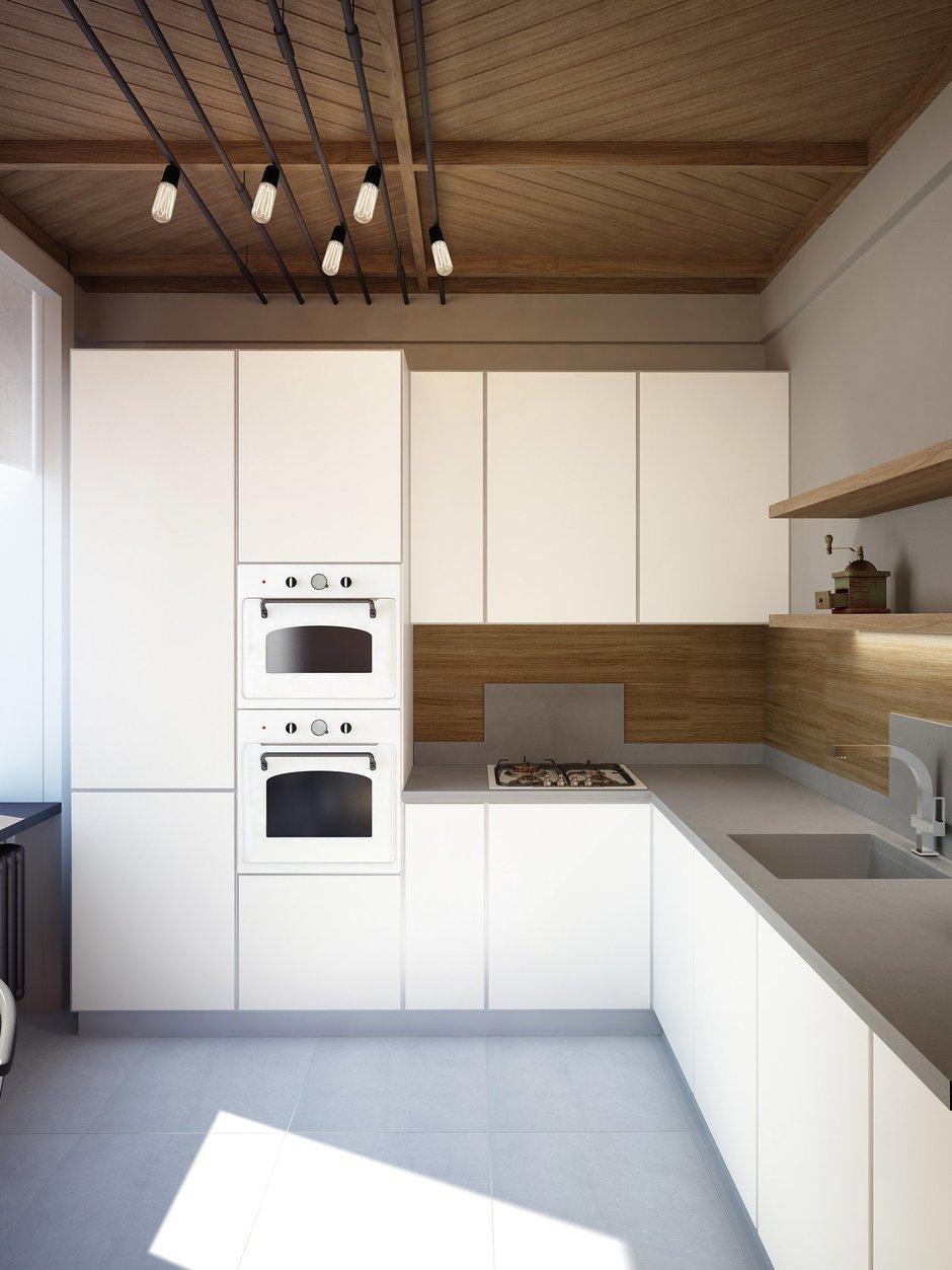 Фотография: Кухня и столовая в стиле Минимализм, Лофт, Квартира, Планировки, Проект недели, Сталинка – фото на INMYROOM