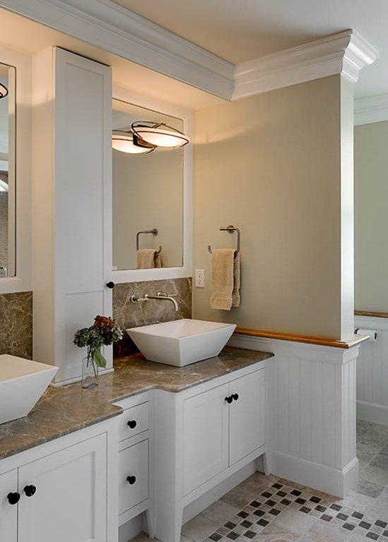 Фотография: Ванная в стиле Классический, Современный, Дом, США, Терраса, Дома и квартиры, Эко, Панорамные окна, Дом и дача – фото на INMYROOM