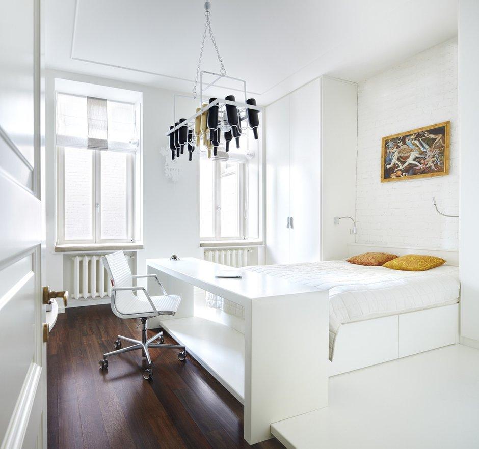 Фотография: Спальня в стиле Современный, Интерьер комнат, Цвет в интерьере, Белый, Проект недели – фото на INMYROOM