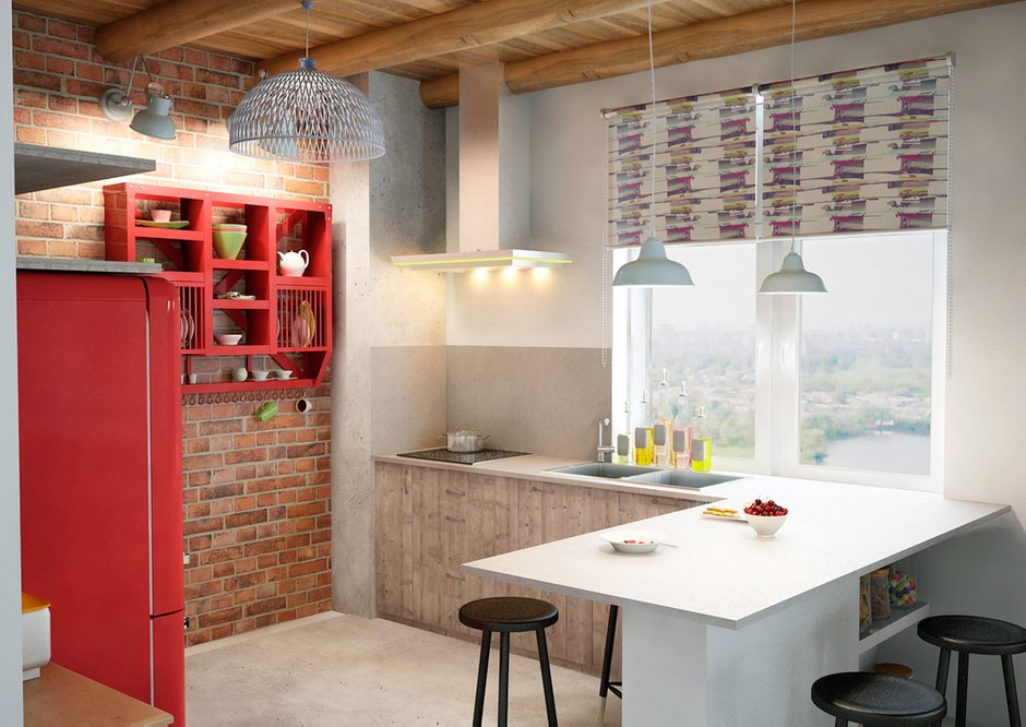 Фотография: Кухня и столовая в стиле Лофт, Скандинавский, Квартира, Дома и квартиры, IKEA, Проект недели – фото на INMYROOM