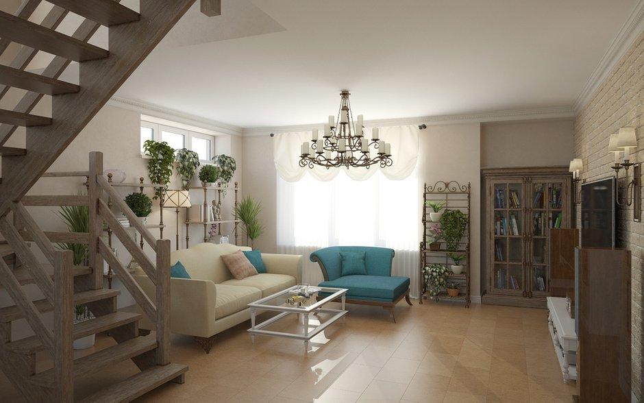 Фотография: Гостиная в стиле Прованс и Кантри, Дом, Дома и квартиры, Прованс – фото на INMYROOM