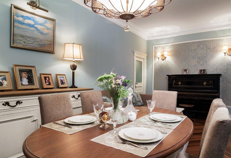 Фотография: Кухня и столовая в стиле Прованс и Кантри, Классический, Квартира, Дома и квартиры, IKEA, Проект недели, Сталинка – фото на INMYROOM