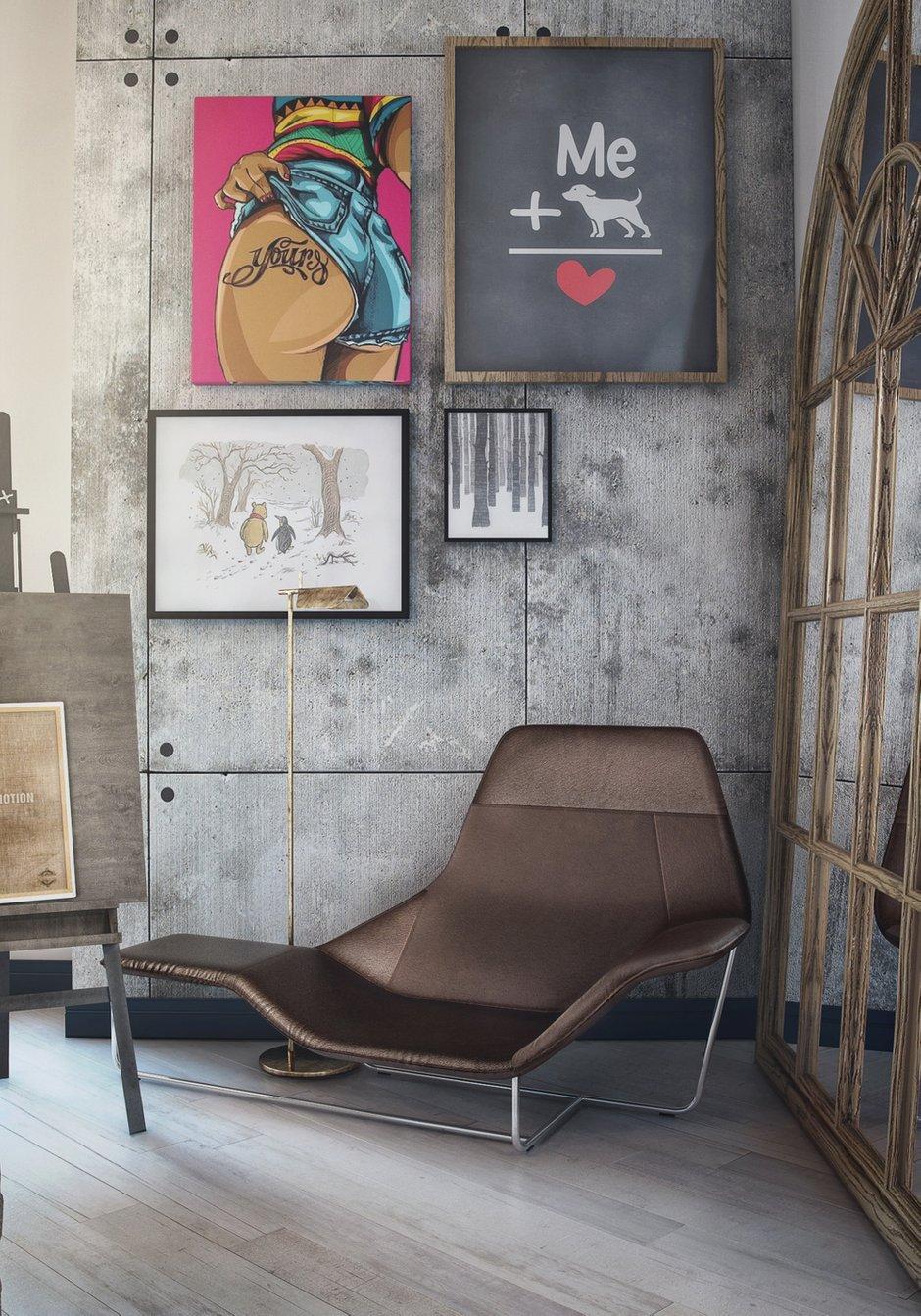 Фотография: Мебель и свет в стиле Лофт, Квартира, Проект недели, Москва, ToTaste Studio, Монолитный дом, 4 и больше, 60-90 метров, ЖК «Соколиный форт» – фото на INMYROOM