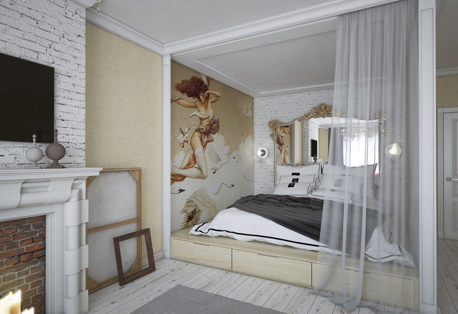 Фотография: Спальня в стиле Эклектика, Квартира, Дома и квартиры, Проект недели – фото на InMyRoom.ru