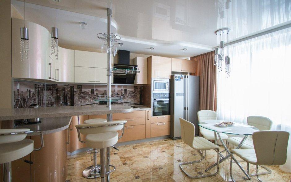 Фотография: Кухня и столовая в стиле Хай-тек, Классический, Квартира, Проект недели – фото на INMYROOM