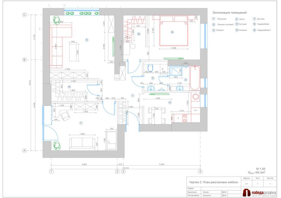 Фотография: Планировки в стиле , Проект недели, Сталинка – фото на INMYROOM