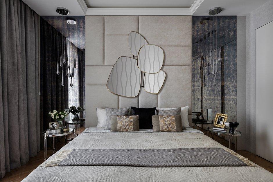 Фотография: Спальня в стиле Современный, Квартира, Проект недели, Москва, Ульяна Скапцова, 3 комнаты, Более 90 метров, US Interiors – фото на INMYROOM