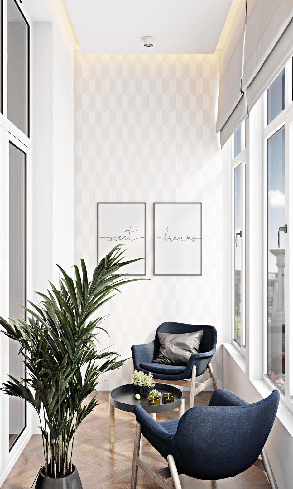 Фотография: Балкон в стиле Современный, Квартира, Студия, Проект недели, Москва, до 40 метров, 40-60 метров, Александра Гартке – фото на INMYROOM