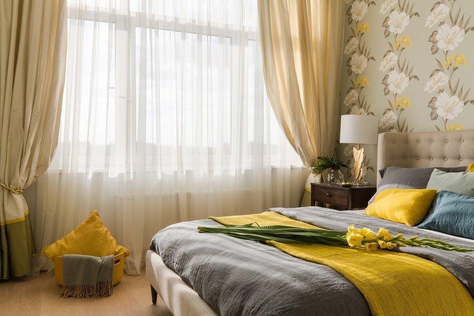 Фотография: Спальня в стиле Современный, Классический, Квартира, Проект недели, Санкт-Петербург, Светлана Иванова, Монолитный дом, 2 комнаты, 60-90 метров – фото на INMYROOM