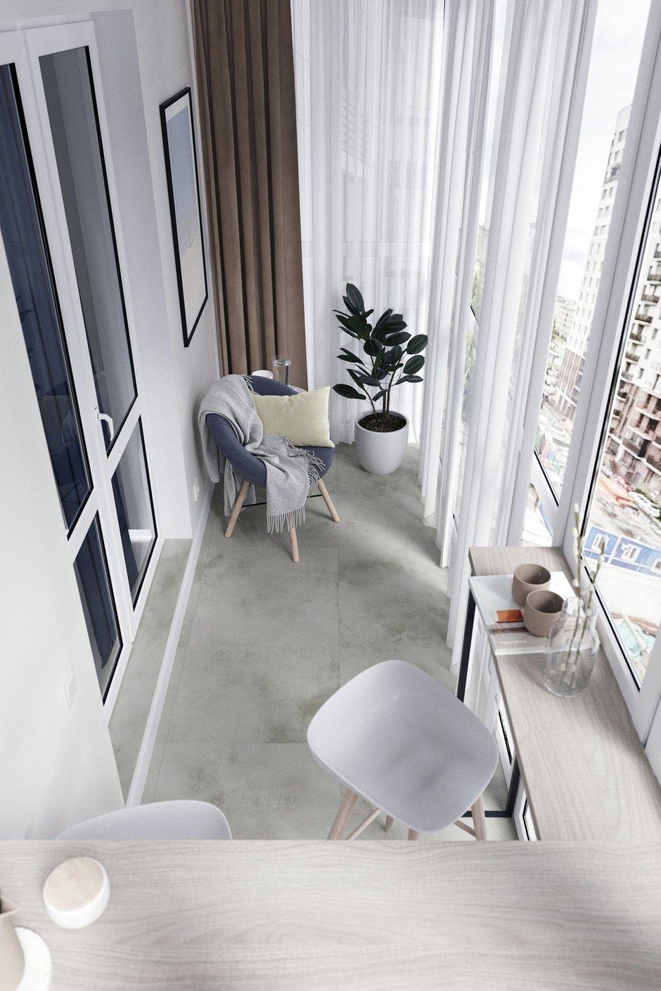 Фотография: Балкон в стиле Современный, Квартира, Проект недели, Минск, 3 комнаты, 60-90 метров, Protena – фото на INMYROOM